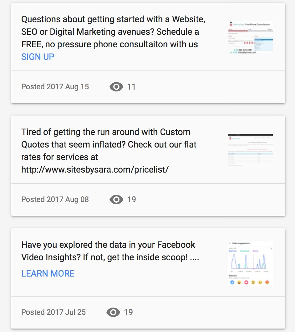 Have you been checking out our updates in #GoogleBusiness? Keep up with all the latest from @SitesBySaraWeb at  http:// tinyurl.com/y79oellf  &nbsp;  <br>http://pic.twitter.com/dQyTLAdimT