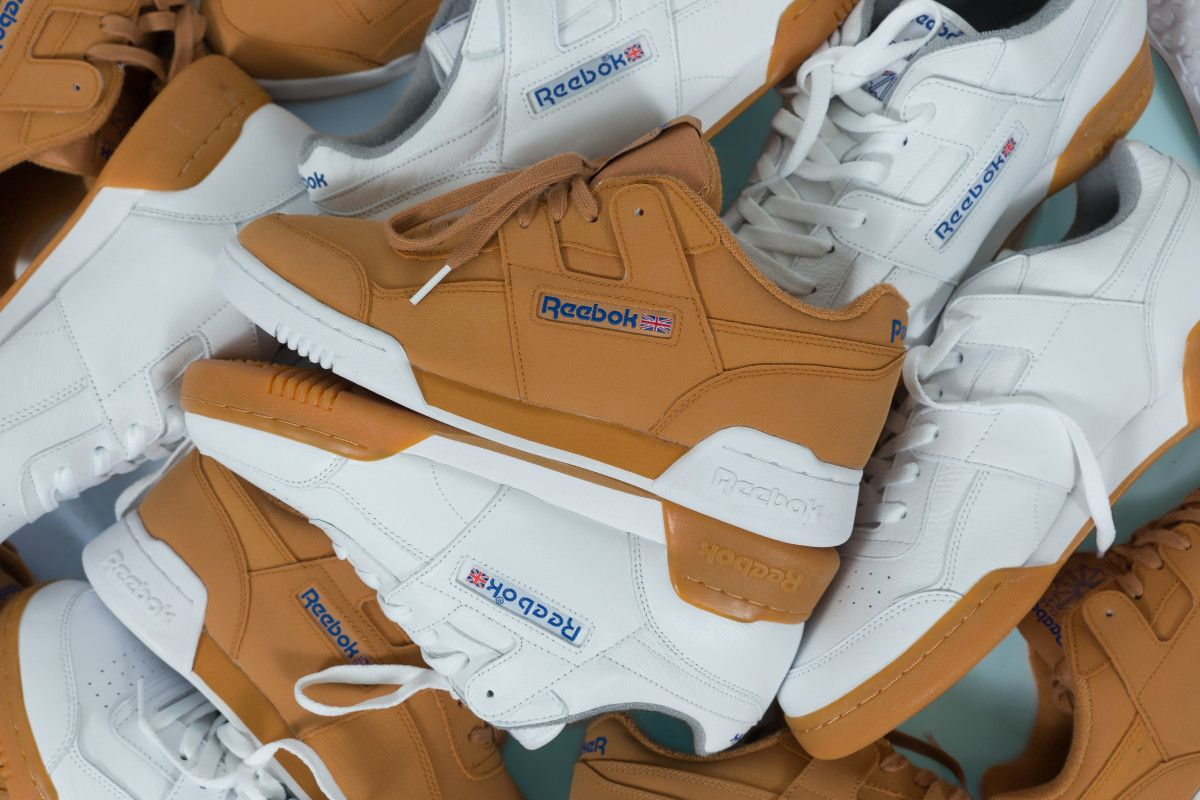 53e0e21f3c1 packer shoes gives the reebok workout lo plus a reverse gum makeover