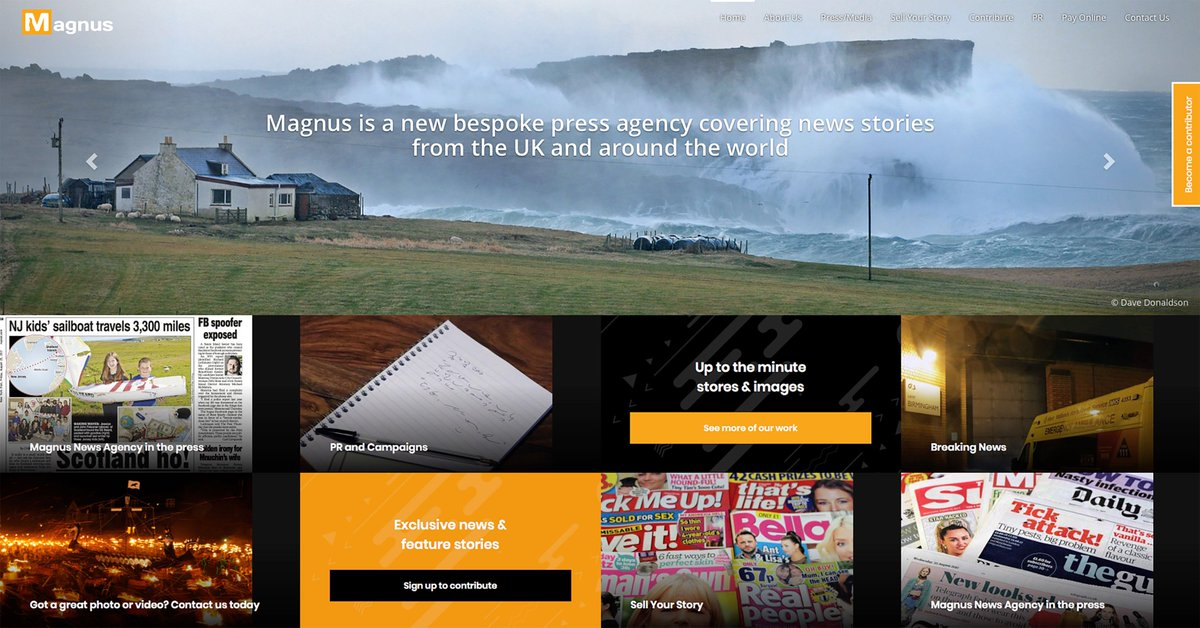 Our new website magnusnewsagency.com