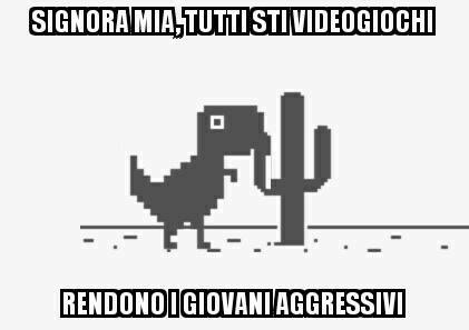 &quot;Dear lady, all the video games make children violent&quot;  - Common Error 404 : Brain not found #dinosaurionesti #commonplace #jurassicjerk<br>http://pic.twitter.com/5vCbEIZRCW