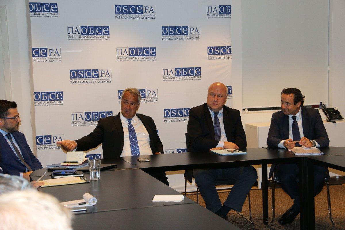 Busy week in Copenhagen, holding productive meetings with Pres. Muttonen, @MakisVoridis & VP @GTsereteli. Photos: https://www.flickr.com/photos/oscepa/ ...