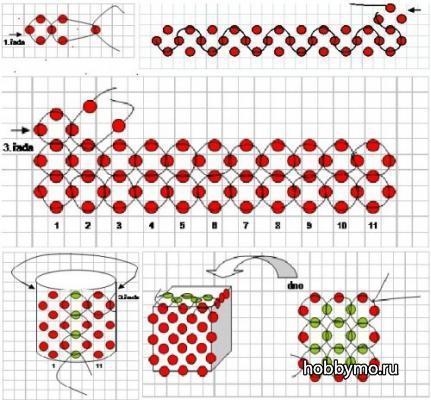 Схема плетения тигровых лилий из бисера