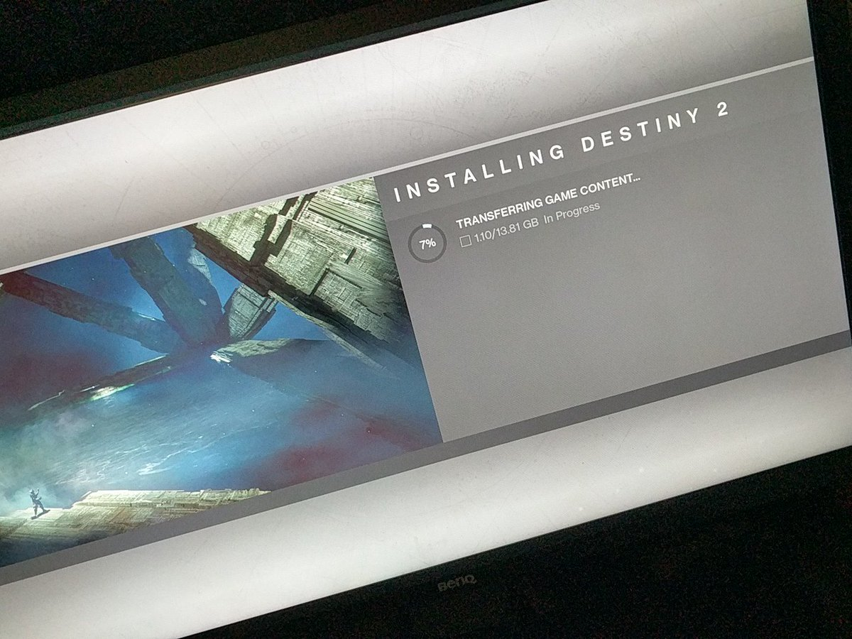 Installing Destiny 2 Ps4 Transferring Game Content