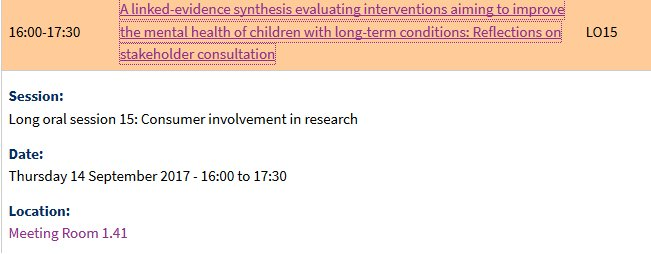 Do come along and hear me talk about stakeholder engagement on our #tlc4ltc Long Term Conditions HTA next Thursday at #GESummit17<br>http://pic.twitter.com/HFwyyPn205