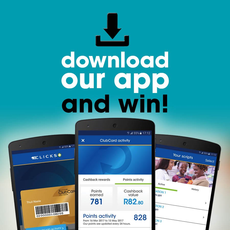 Download our app before 30 Sept and you could WIN your share of R20,000 worth of ClubCard points! Find out more > http://bit.ly/2f6AmrG