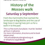 9 Sept: From #mammoths to life saving #bogmoss come on a historical journey at our Fenn's, Whixall & Bettisfield Mosses #NNR #LIFE25NATURA!
