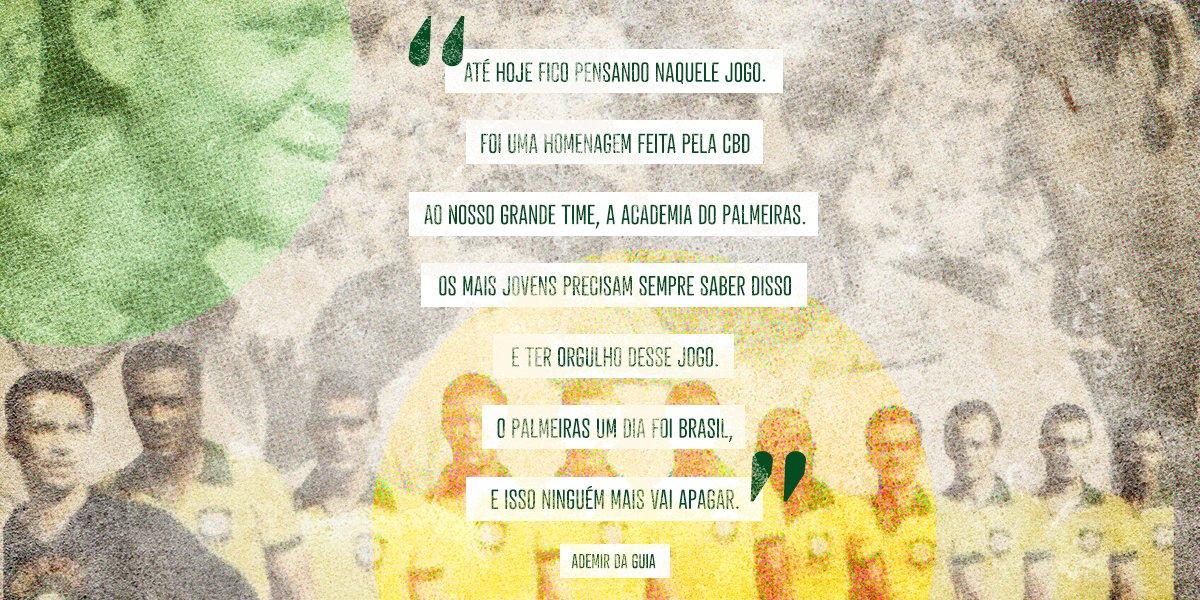 Há 52 anos, o Mineirão viu o 1º clube a representar a Seleção. O resultado não poderia ser outro: Palmeiras 3... digo: Brasil 3x0 Uruguai!