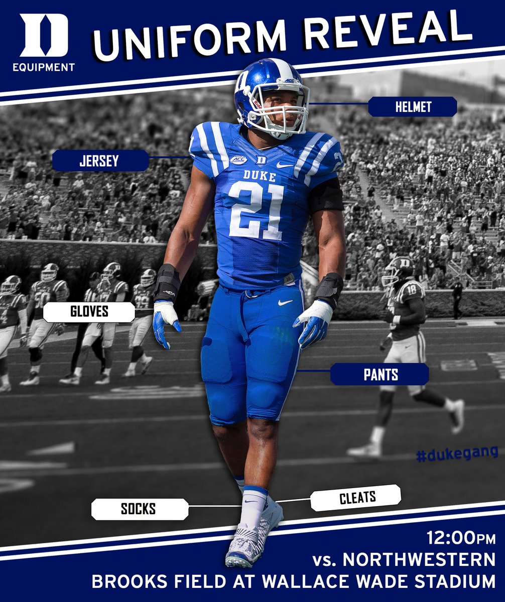 Duke Fb Equipment On Twitter The Dukefootball Uniform Combo For