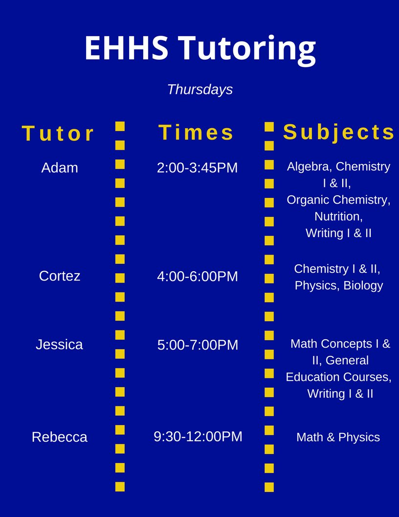 Ksu Ehhs Dod On Twitter Tutoring Today In The Instructional
