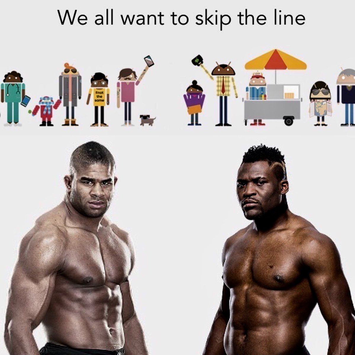 I heard someone is trying to skip the line. Can't allow such a thing to happen. So @francis_ngannou let's go! @ufc https://t.co/hwLBhdtMfk
