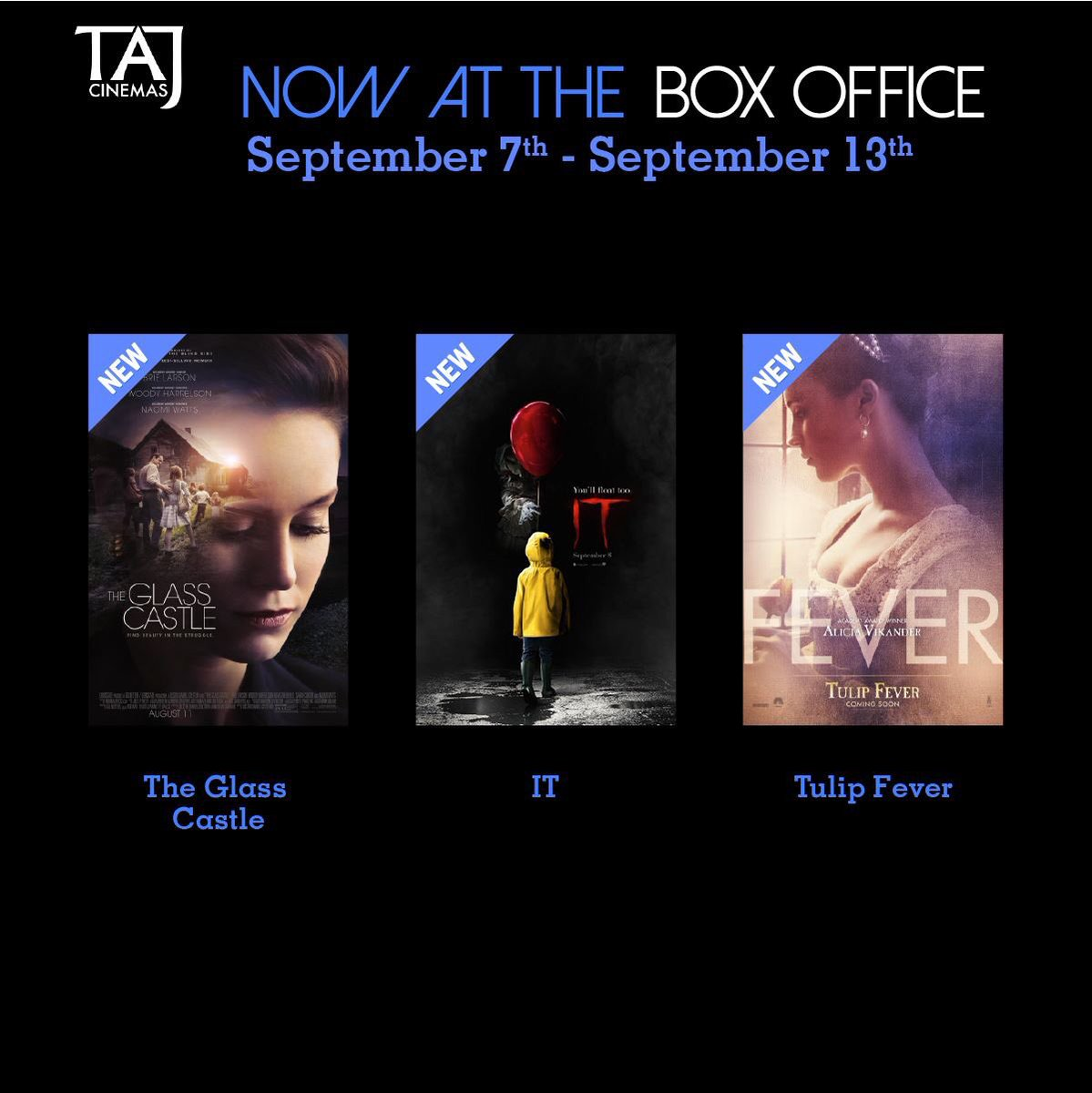 3 new movies at our box office for this week! TAG them friends who you want to watch a movie with. #TAJCinemas #Jo #Movies #Amman #Jordan https://t.co/CDJyEq6AvA