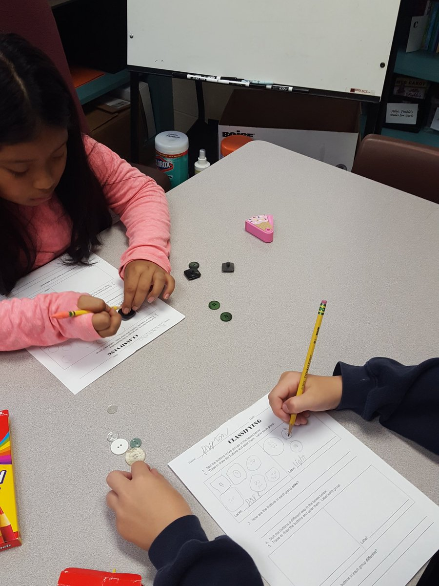 We are classifying buttons today! #ccs118life