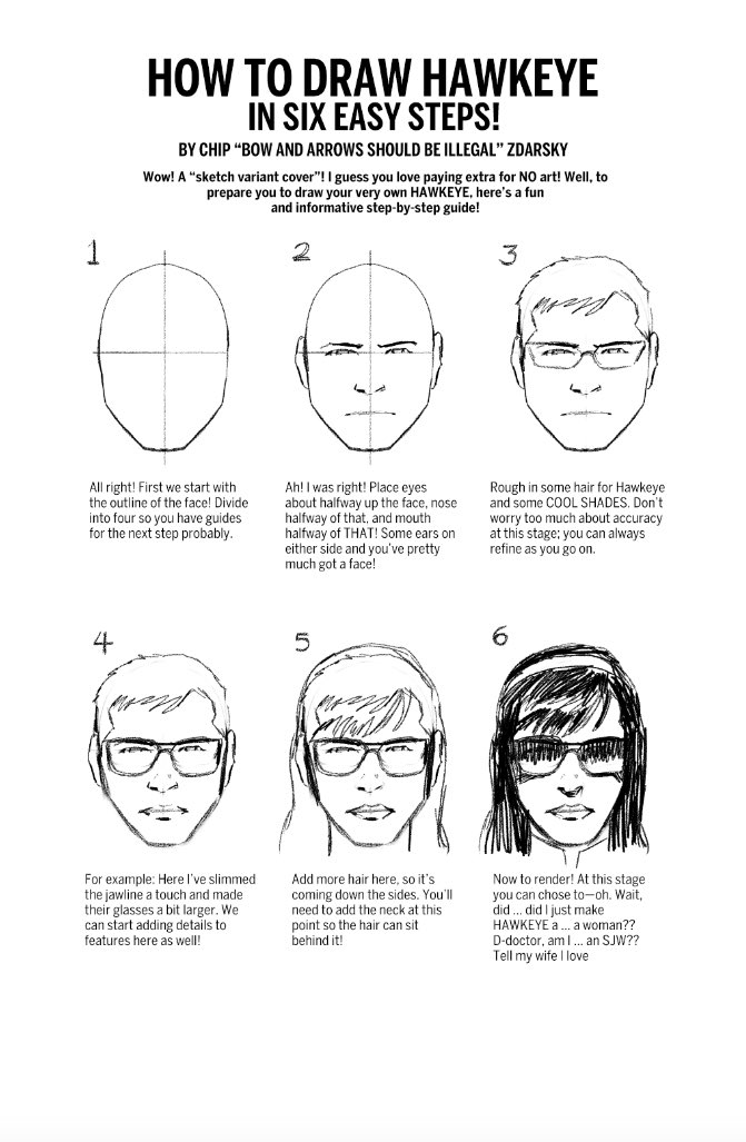 How to Draw Hawkeye in 6 Easy Steps: The @zdarsky Way https://t.co/0S9mkfSHIm