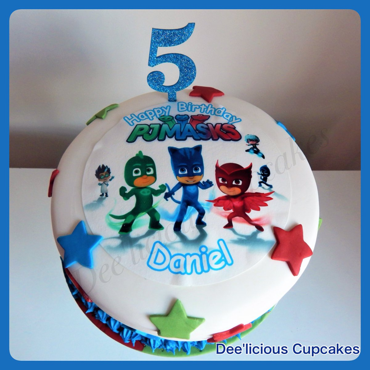PJ Mask Birthday Cake Moist Vanilla Sponge Strawberry Jam And Buttercream HBD Pjmask Deeliciouscupcakes Pictwitter ZV915LxSyb