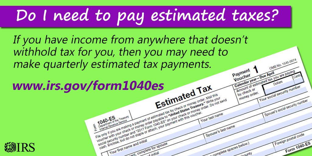 Irs On Twitter Sept 15 Is A Deadline For Many Who Make Estimated