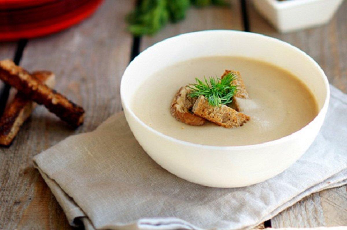 Суп пюре грибной со сливками рецепт