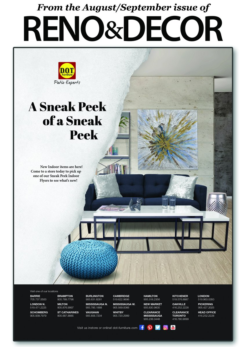 Dot Furniture On Twitter We Are Featured In This Issue Of Renoanddecor Magazine Come Check Us Out Https T Co B110tsxmls Ad