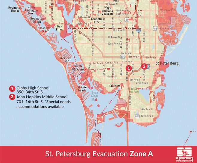 Map St Petersburg Florida.St Petersburg Fl On Twitter Attn Stpete Residents In Evac