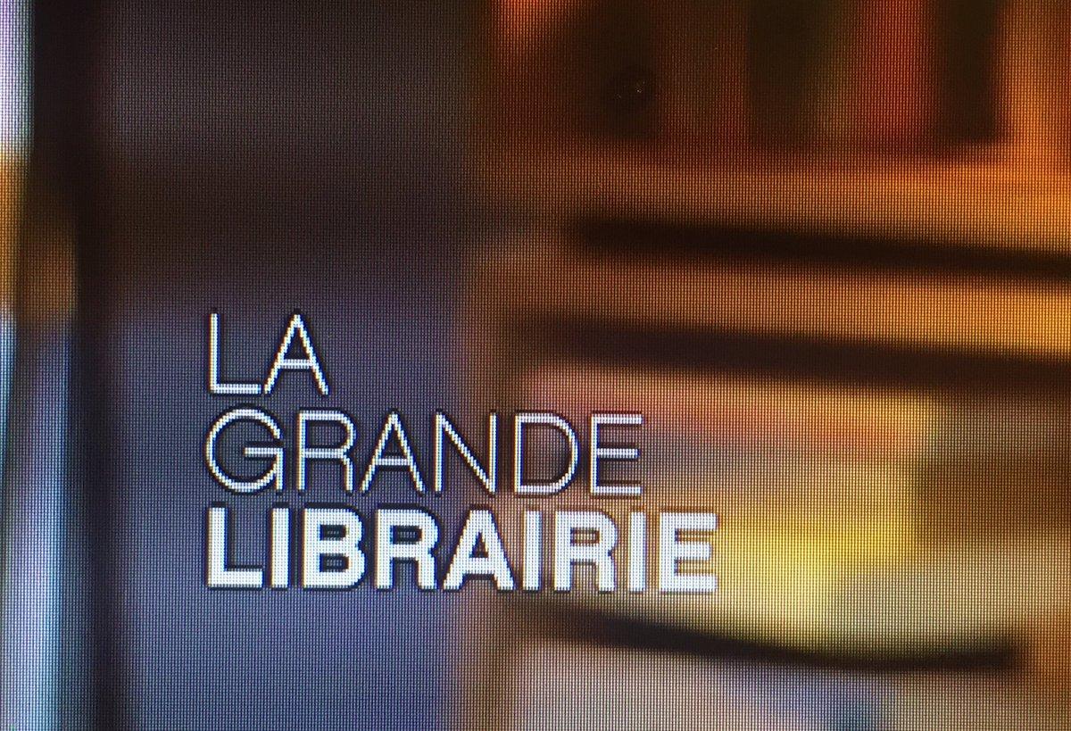 La nouvelle typo de La Grande Librairie. Je me demande où le graphiste a trouvé l'idée. #librairie #épicerie