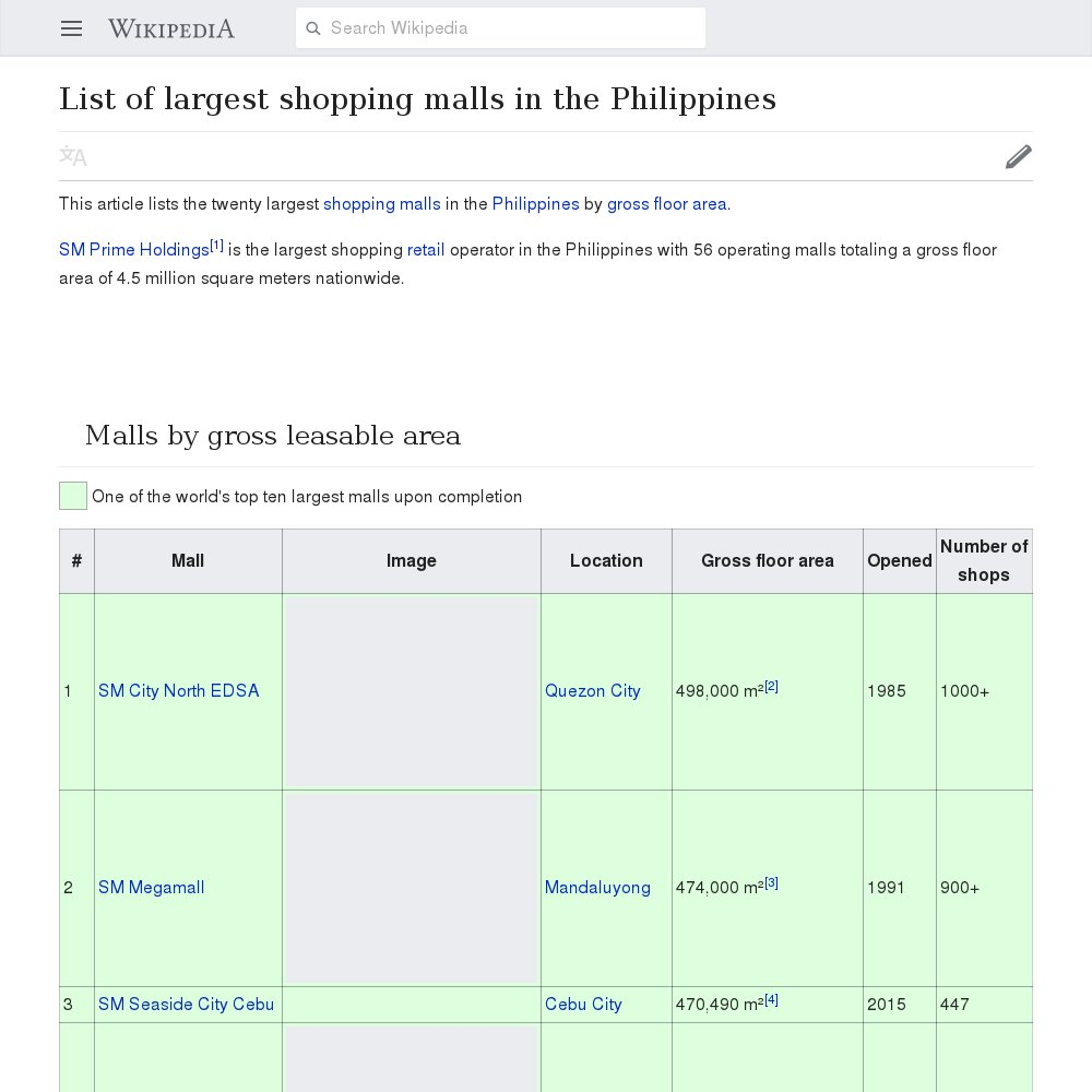 Shopping philippines