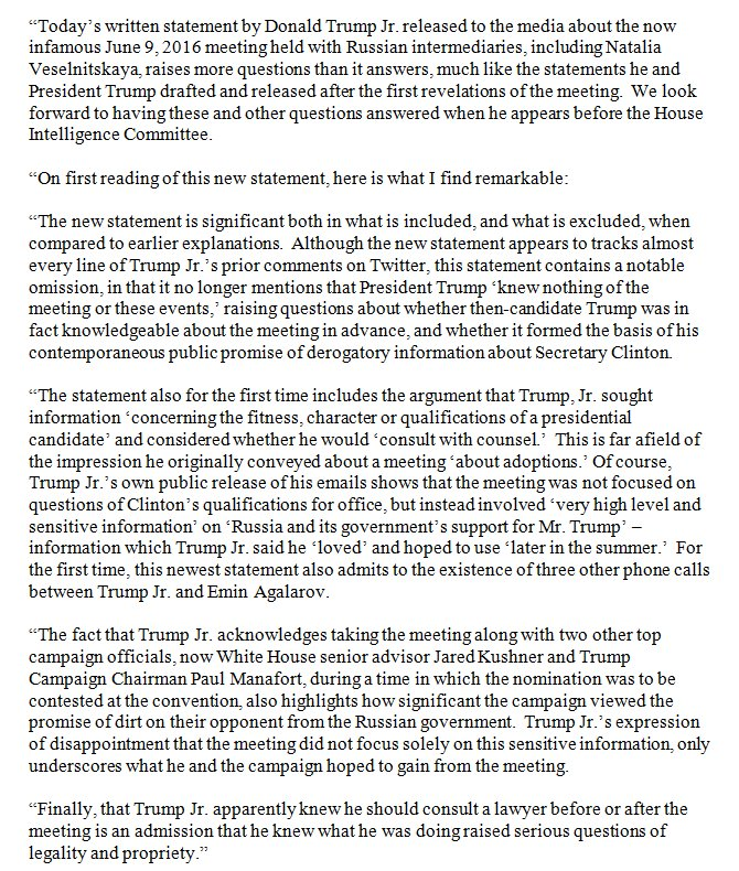 Donald Trump Jr.'s new statement about June 2016 Trump Tower meeting is significant both in what is included & what is excluded. Here's why: