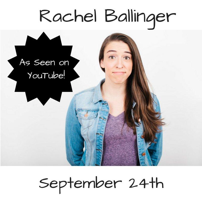 Don't miss YouTube's @MissRBaller Rachel Ballinger one night only! Get TIX: https://t.co/587CzCzKQa https://t.co/y8ENuDe6pJ