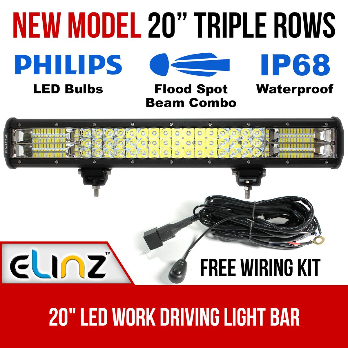 New 3 rows elinz led light bars your perfect companion in night driving and offroad adventures http ow ly 4zxz30ezorj elinzl ledlightbar
