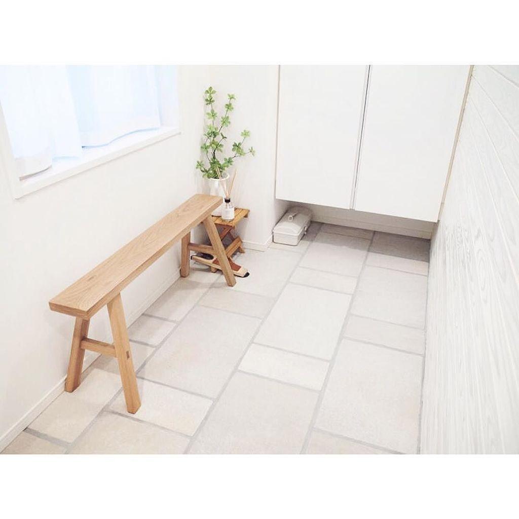 【無印良品 MUJI 】 オーク無垢材 シンプル ベンチの画像