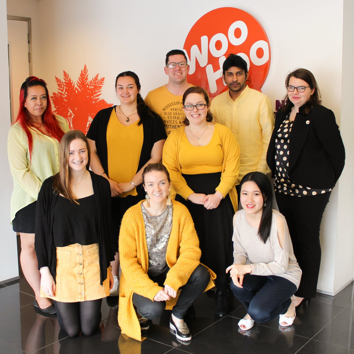 Dressing up in the #SpiritofGold today to help @NZParalympics head to #Pyeongchang2018 games!