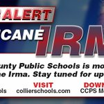 Collier County Public Schools will remain closed through Monday.  Please stay safe!