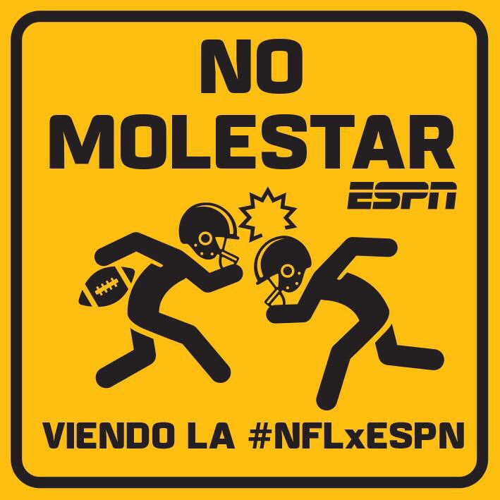 En estos momentos estamos ocupados✌️. #NFLxESPN