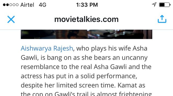 So happie to read this 😊so many good reviews thank u so much #Daddy is always spl movie to me do watch it guys @rampalarjun @DaddyRealStory https://t.co/J3lKyM8lRt
