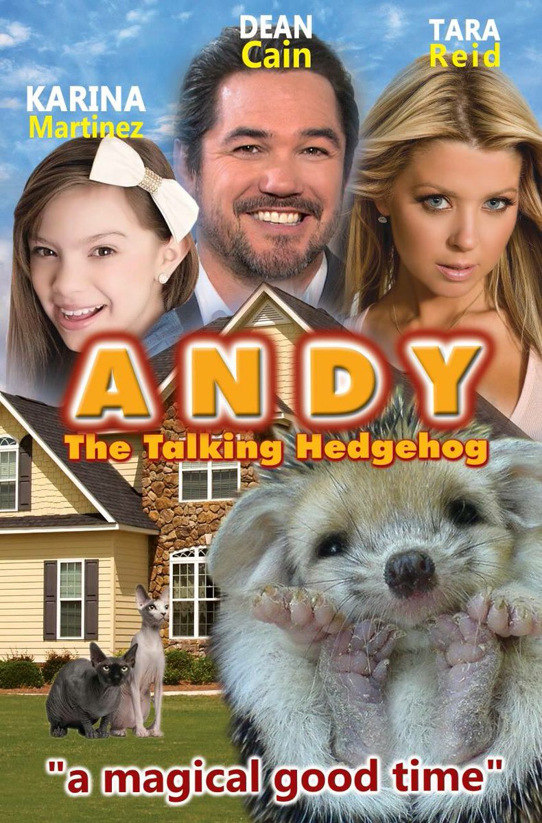 Also another movie I have coming out. #andythetalkinghedgehog https://t.co/0AQpYz7w8L