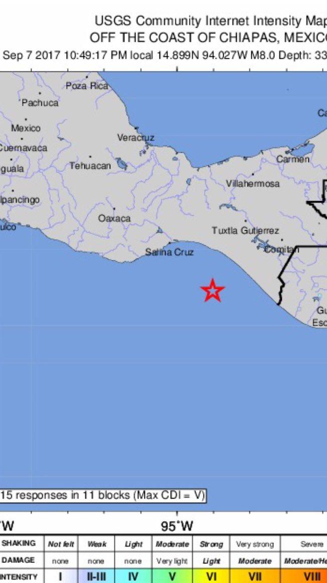 Big One: Reported 8.0 preliminary magnitude earthquake off the coast of Mexico