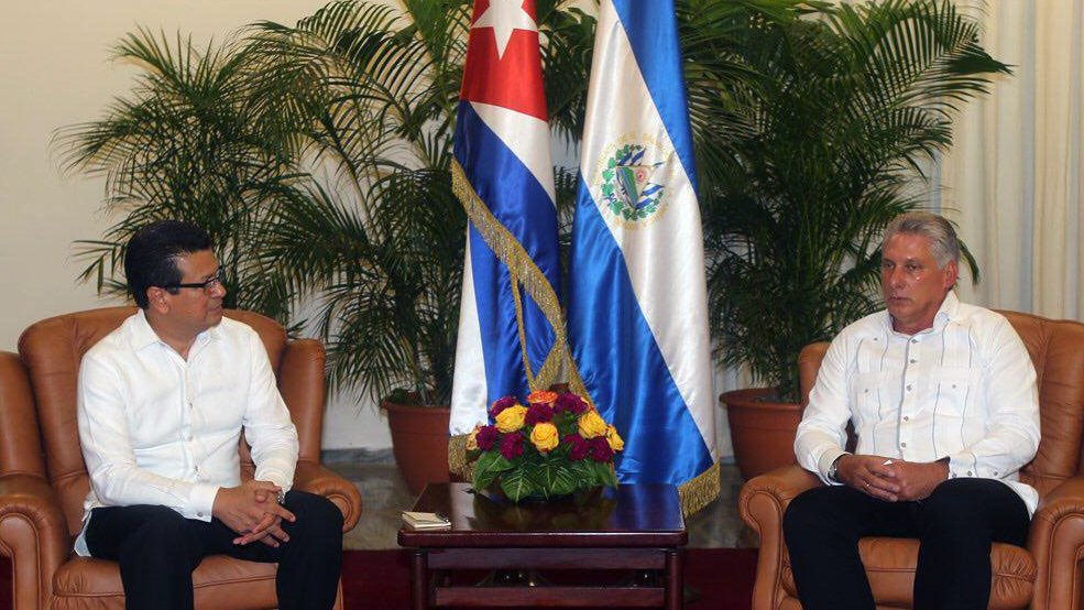 Miguel Diaz-Canel Bermudez Meets with Salvadoran Foreign Minister