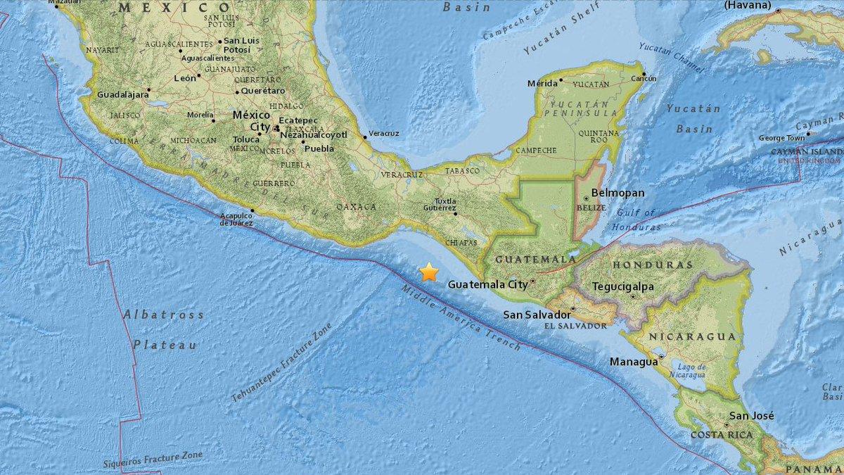 #BREAKINGNEWS 8.0 earthquake strikes near coast of Chiapas, Mexico https://t.co/kPYytpxF30