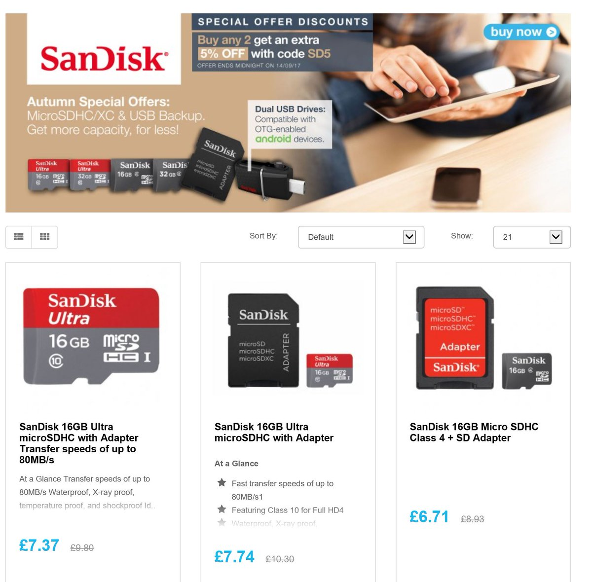 Save on @SanDisk micro SD/xc cards  http:// ow.ly/j95j30eZuxy  &nbsp;    #RT #Follow #Win  share  #MultiBuy Extra 5% when u buy 2 from collection <br>http://pic.twitter.com/MoWxNSQQzM
