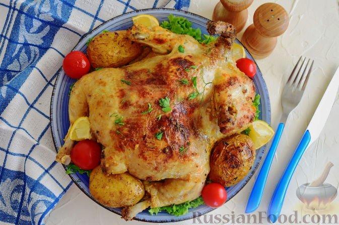 Запечённая курица в фольге рецепт