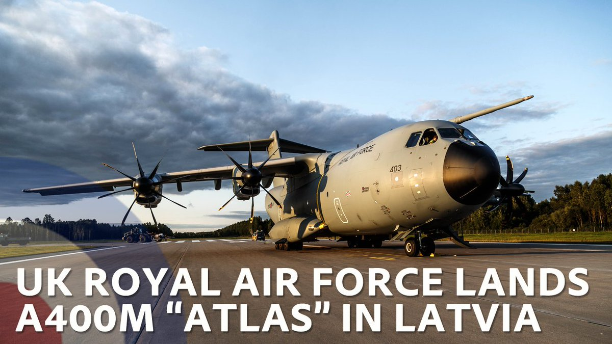 The @RoyalAirForce landed its most powerful transport plane to date in #Latvia for Exercise Ramstein Dust