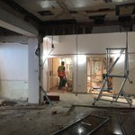 Demolition works well underway to the new simulation hospital @LancsHospitals @City_Build