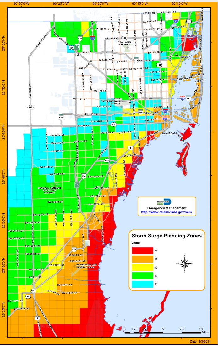 miami dade flood map | draw a topographic map