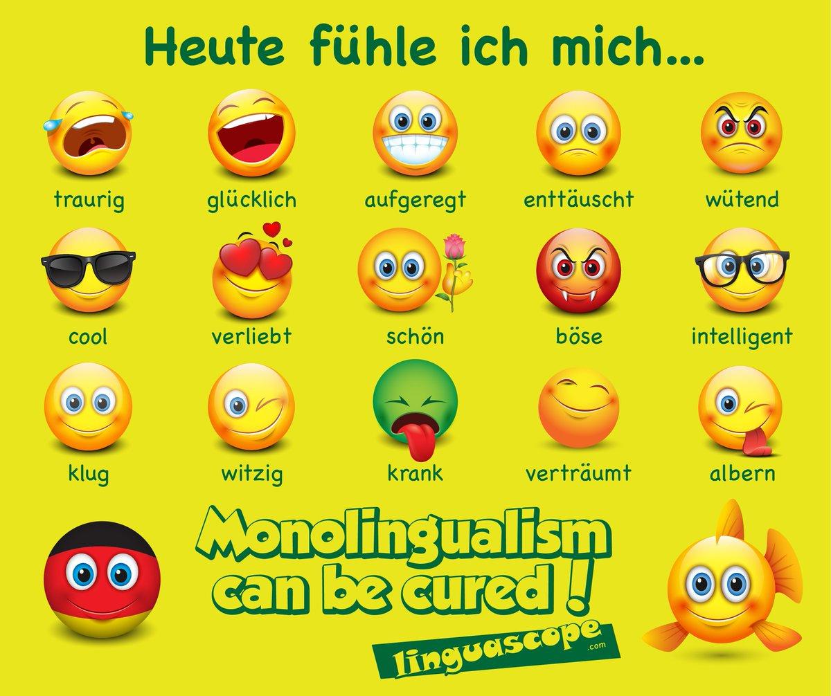 Linguascope on Twitter: Wie fühlst du dich heute? #german