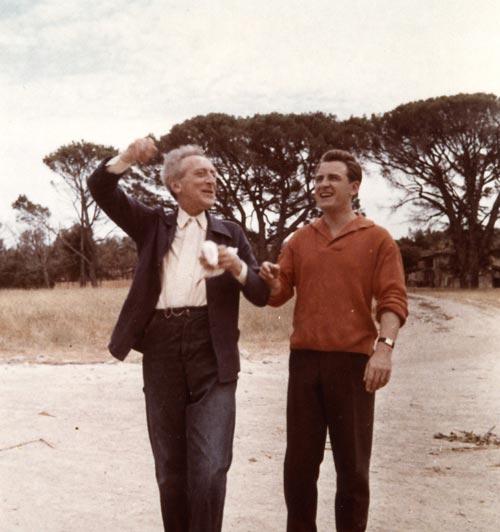 Pierre Bergé, en compagnie de Cocteau.