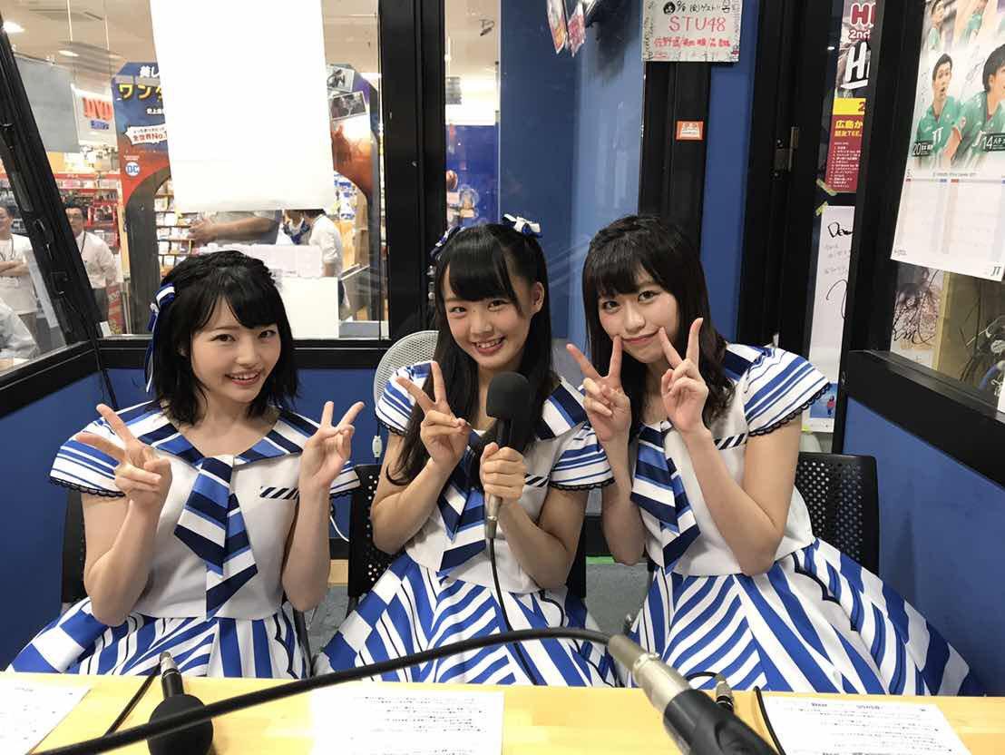 """STU48: 庄司悟のカウントダウン魂 On Twitter: """"STU48から、佐野遥さん、福田朱里さん、森香穂さんにお越し"""
