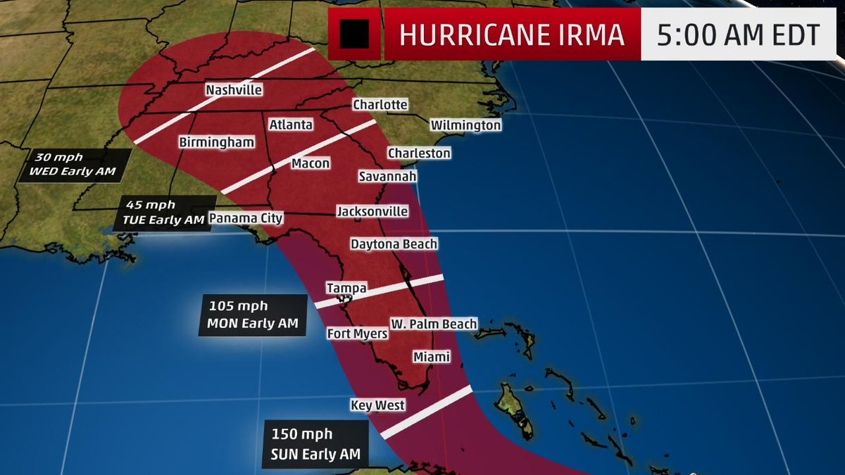 The Weather Channel On Twitter The Latest Thinking On The U S Impact Of Irma State By State Https T Co Acwbxrdouo Https T Co Ztujvba9qj