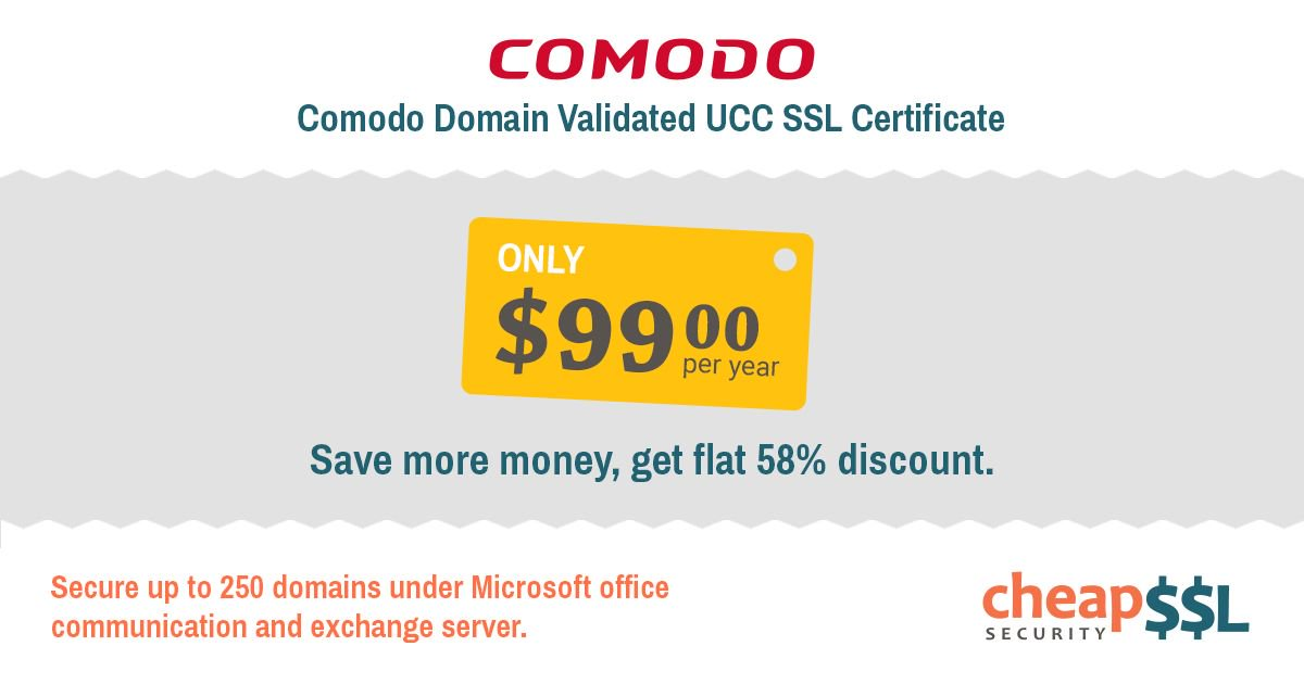 Cheapsslsecurity On Twitter 58 Off Comodo Domain Validated Ucc