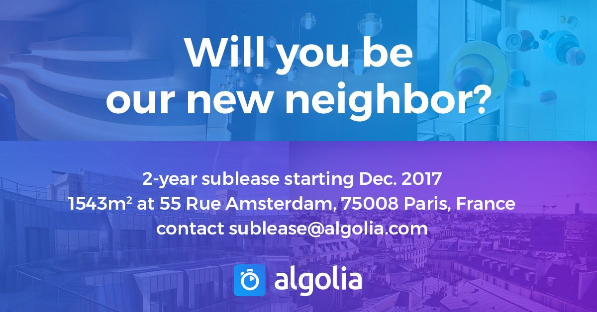 Come join us in our amazing new Paris offices. Share, tweet, like and clap!