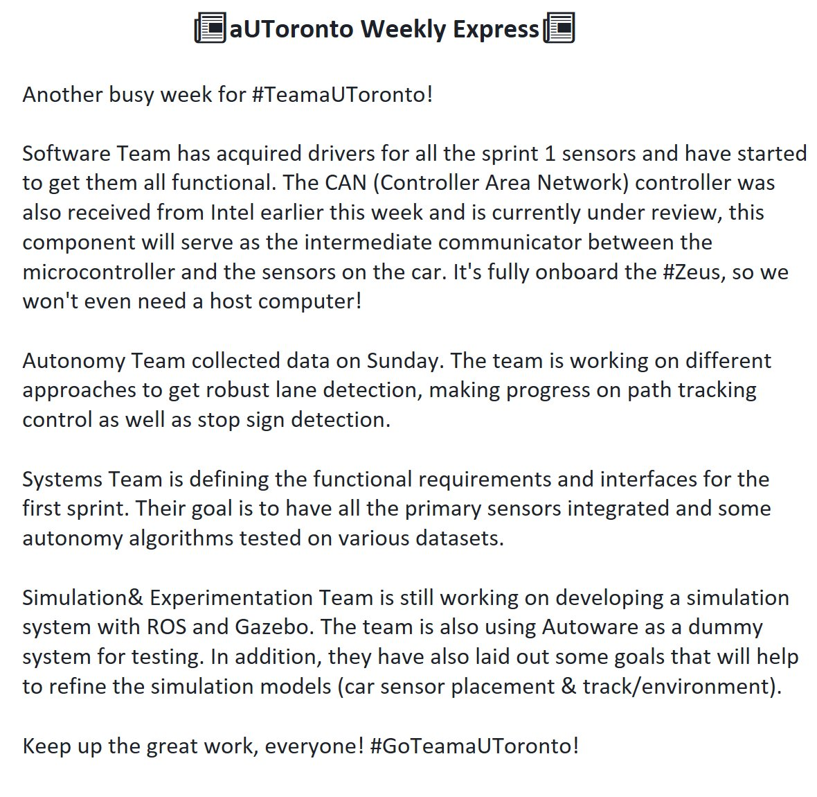 aUTorontoweeklyexpress hashtag on Twitter