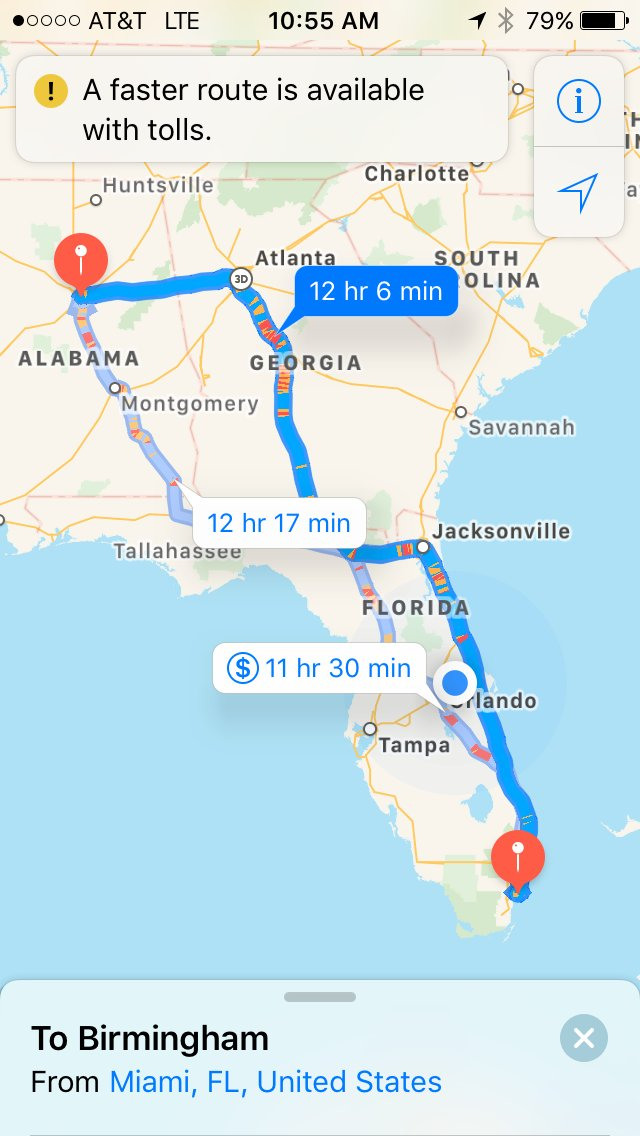 Map Of Florida Turnpike Service Plazas.Dr Phil Metzger On Twitter Drive Time From Miami To Birmingham