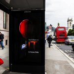 Who's brave enough to watch this tonight? Even the creative is scaring us! 😱🎈 @ITMovieOfficial @kineticwwUK #ITMovie #DOOH